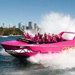 Pink Oz Jet Boat Sydney Harbour